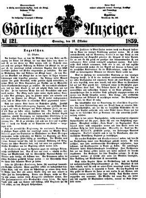 Görlitzer Anzeiger vom 16.10.1859