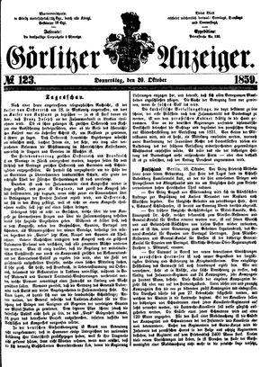 Görlitzer Anzeiger vom 20.10.1859