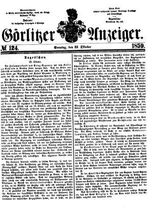 Görlitzer Anzeiger vom 23.10.1859