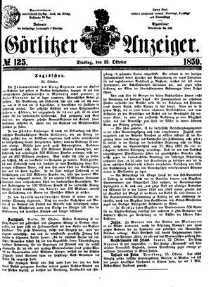 Görlitzer Anzeiger vom 25.10.1859