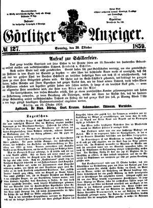 Görlitzer Anzeiger vom 30.10.1859