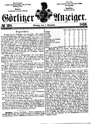 Görlitzer Anzeiger vom 01.11.1859