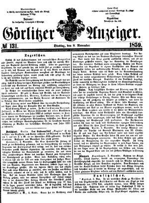 Görlitzer Anzeiger vom 08.11.1859