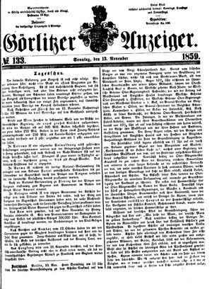 Görlitzer Anzeiger vom 13.11.1859