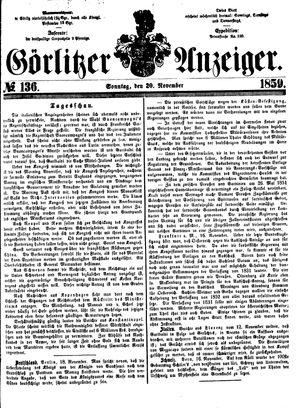 Görlitzer Anzeiger vom 20.11.1859