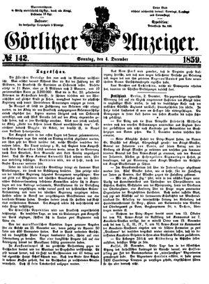 Görlitzer Anzeiger vom 04.12.1859