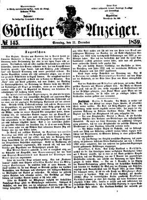 Görlitzer Anzeiger vom 11.12.1859
