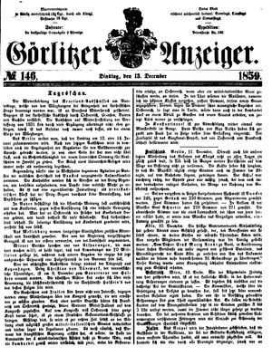 Görlitzer Anzeiger vom 13.12.1859