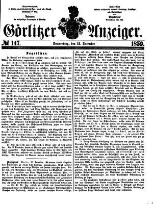 Görlitzer Anzeiger on Dec 15, 1859