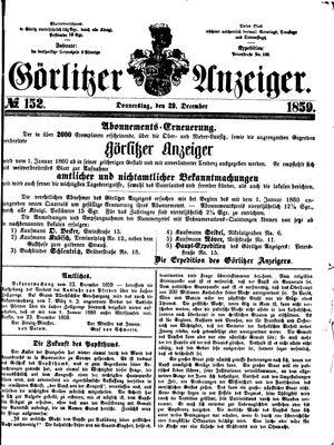Görlitzer Anzeiger vom 29.12.1859
