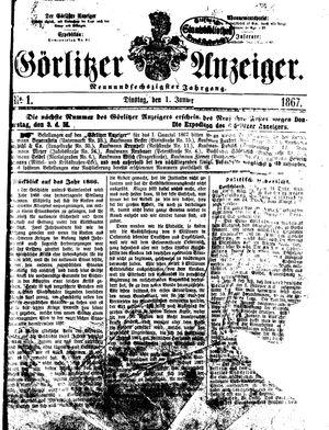 Görlitzer Anzeiger vom 01.01.1867