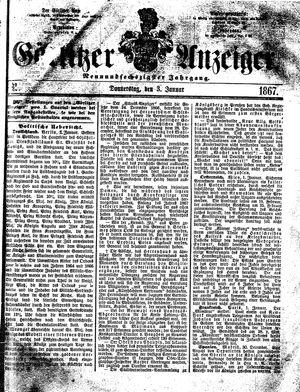 Görlitzer Anzeiger vom 03.01.1867