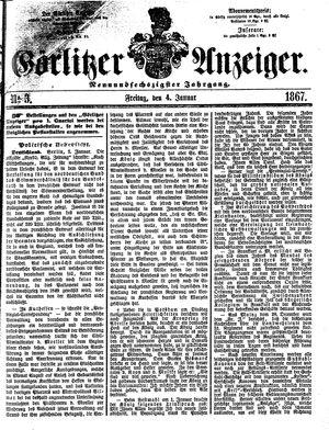 Görlitzer Anzeiger vom 04.01.1867