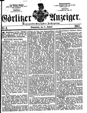 Görlitzer Anzeiger vom 05.01.1867