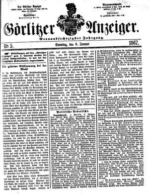 Görlitzer Anzeiger vom 06.01.1867