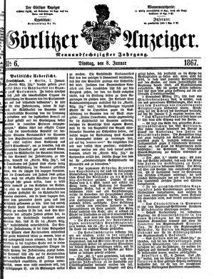 Görlitzer Anzeiger vom 08.01.1867