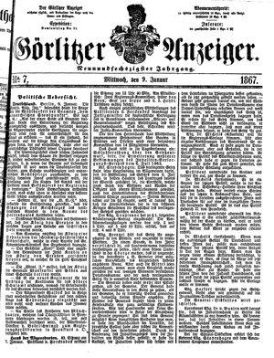 Görlitzer Anzeiger vom 09.01.1867