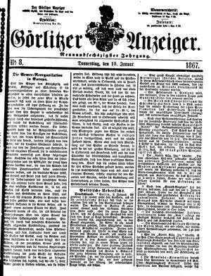 Görlitzer Anzeiger vom 10.01.1867