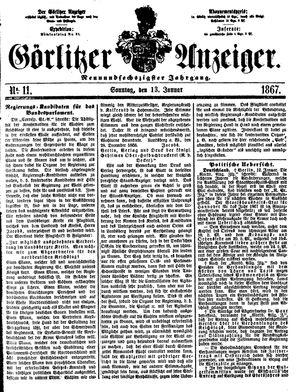 Görlitzer Anzeiger vom 13.01.1867