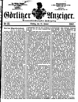 Görlitzer Anzeiger on Jan 15, 1867