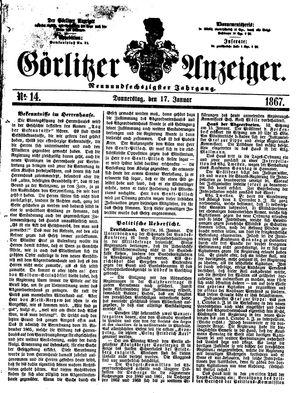 Görlitzer Anzeiger vom 17.01.1867