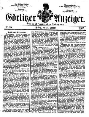 Görlitzer Anzeiger vom 18.01.1867