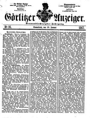 Görlitzer Anzeiger on Jan 19, 1867