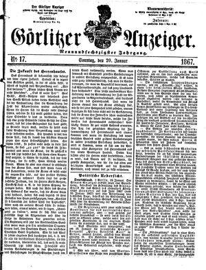 Görlitzer Anzeiger vom 20.01.1867