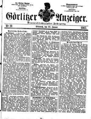 Görlitzer Anzeiger vom 23.01.1867