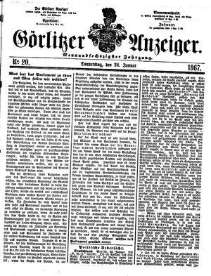 Görlitzer Anzeiger vom 24.01.1867