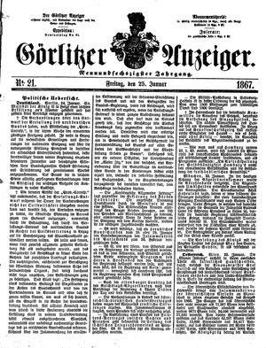 Görlitzer Anzeiger vom 25.01.1867