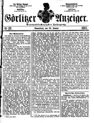 Görlitzer Anzeiger on Jan 26, 1867