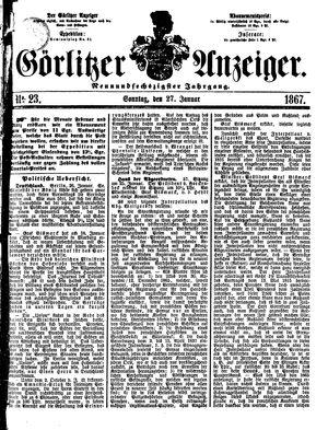 Görlitzer Anzeiger vom 27.01.1867