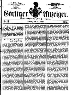 Görlitzer Anzeiger vom 29.01.1867