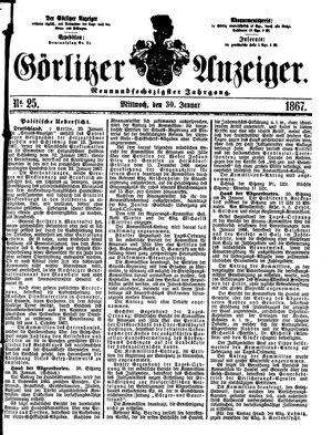 Görlitzer Anzeiger vom 30.01.1867