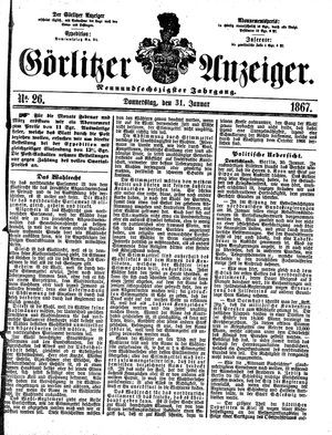Görlitzer Anzeiger vom 31.01.1867