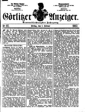 Görlitzer Anzeiger vom 01.02.1867