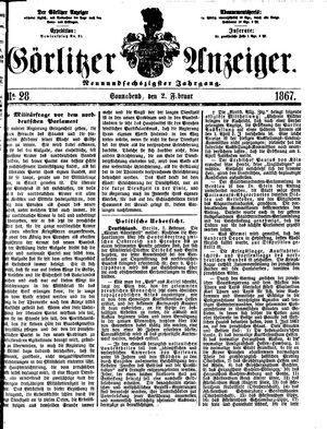Görlitzer Anzeiger vom 02.02.1867