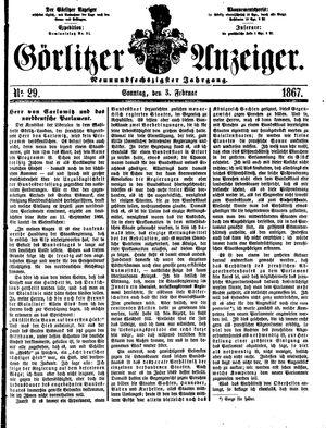 Görlitzer Anzeiger on Feb 3, 1867