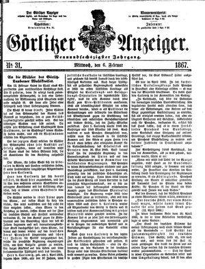 Görlitzer Anzeiger vom 06.02.1867
