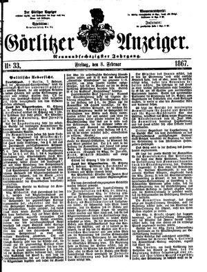 Görlitzer Anzeiger vom 08.02.1867