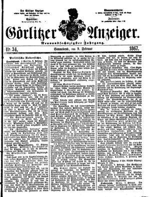 Görlitzer Anzeiger vom 09.02.1867