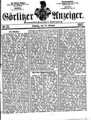 Görlitzer Anzeiger vom 10.02.1867