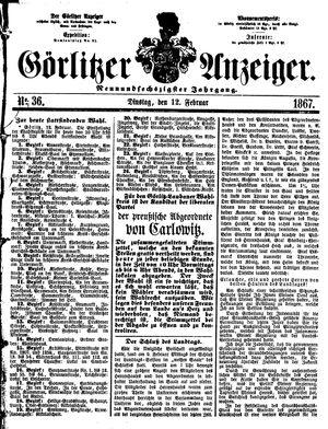Görlitzer Anzeiger vom 12.02.1867