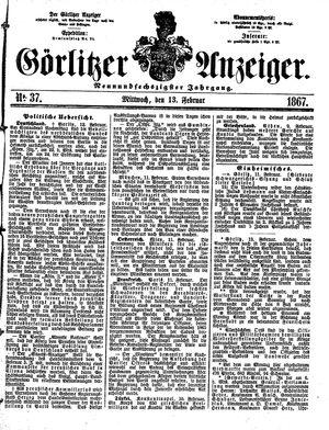 Görlitzer Anzeiger vom 13.02.1867