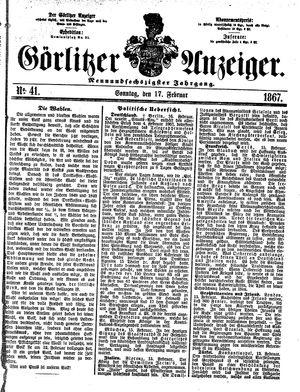 Görlitzer Anzeiger vom 17.02.1867