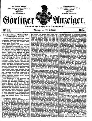 Görlitzer Anzeiger vom 19.02.1867