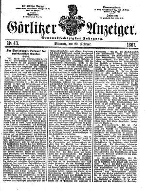 Görlitzer Anzeiger vom 20.02.1867