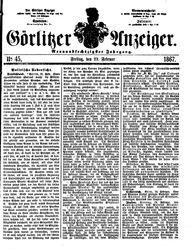 Görlitzer Anzeiger (22.02.1867)