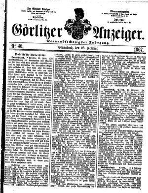 Görlitzer Anzeiger on Feb 23, 1867